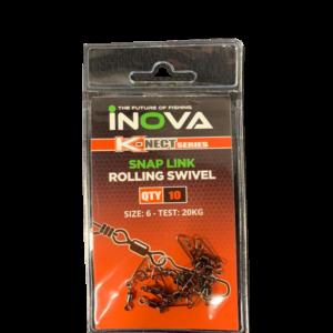 Snap link rolling swivels size 6